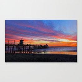 Huntington Beach Sunset   ~  12/15/13  Canvas Print