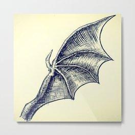 Batwing for Bats and a Bat Metal Print
