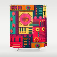 sunrise Shower Curtains featuring Sunrise by Shelly Bremmer