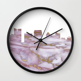 Fort Lauderdale Skyline Wall Clock