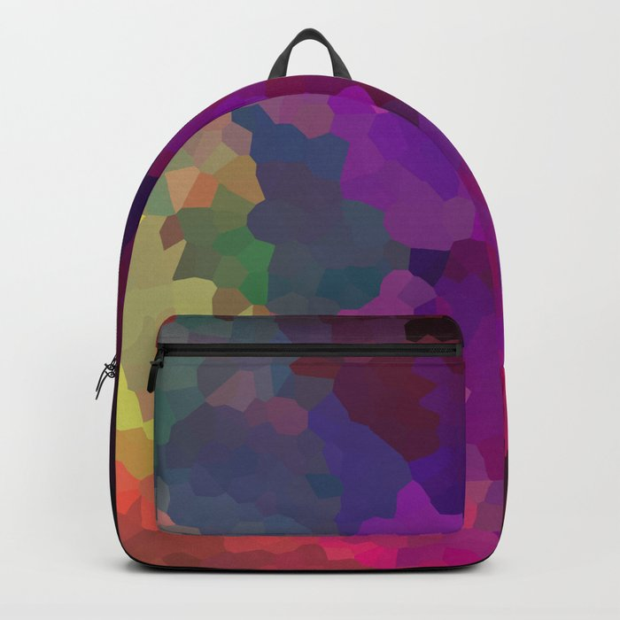 Multicolored abstract pattern . A firework of colors . Backpack