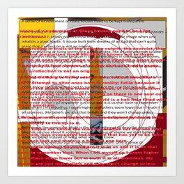 word pillow poem Art Print