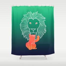 Cat spirit Shower Curtain