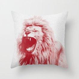 Lion 01 Throw Pillow