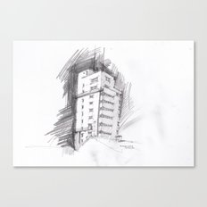 Tagblattturm Stuttgart - pencil Canvas Print