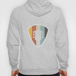 Guitar Pick Vintage Retro Guitarist Bass Guitar Music Lovers Musicians Gifts Hoody