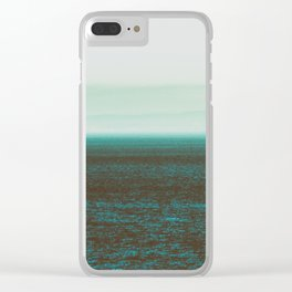 Sea front green Clear iPhone Case