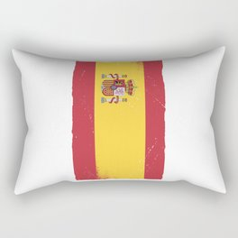 España Spanish Flag Spain Retro Gift Football Fan Rectangular Pillow