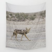 coyote Wall Tapestries featuring Coyote by Alice B. Woods