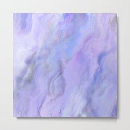 Pastel Blue Marble Metal Print