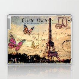 Vintage Paris-Carte Postale Laptop & iPad Skin