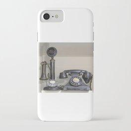 Vintage bakelite candlestick telephone iPhone Case