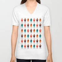 heroes V-neck T-shirts featuring Heroes by Tomas Hudolin