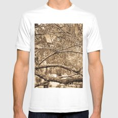 MYSTERY Mens Fitted Tee SMALL White