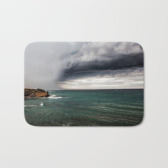 clouds and sea Bath Mat