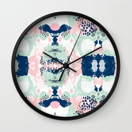 Kimmie - abstract painting modern hipster trendy urban city painterly boho home college dorm decor  Wall Clock