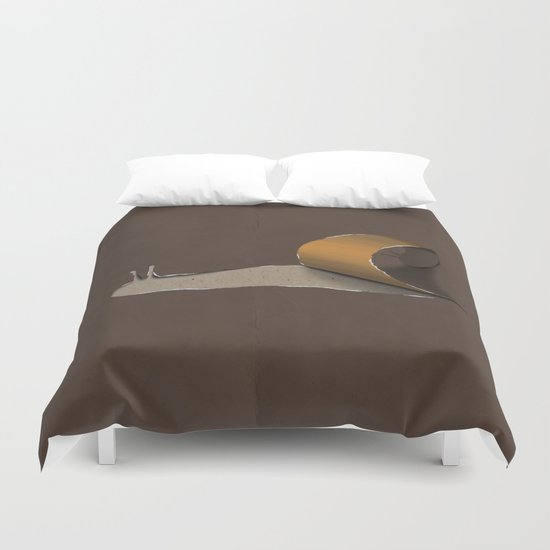 snail brown Duvet Cover