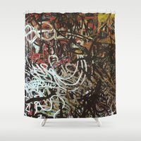 brussels Shower Curtains featuring Montana Shop, Brussels by Snerk One