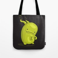 bubbles Tote Bags featuring Bubbles by Lili Batista