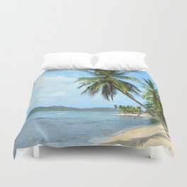 The Caribbean beach 01 Duvet Cover