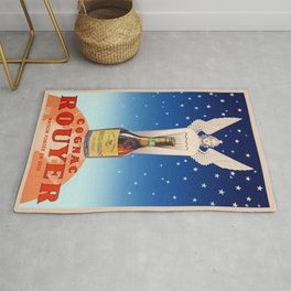 Vintage Cognac Rouyer Alcoholic Aperitif Advertising Poster Rug