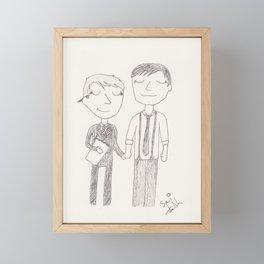 the first day of art school Framed Mini Art Print