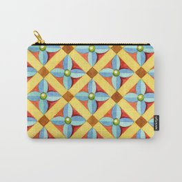 Heraldic Quartrefoil Lozenge Carry-All Pouch