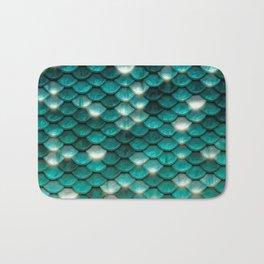 Turquoise sparkling mermaid glitter scales- Mermaidscales Bath Mat