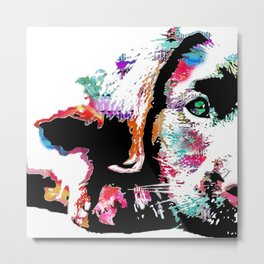 riley the lab pup Metal Print