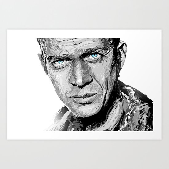 The King of Cool Art Print