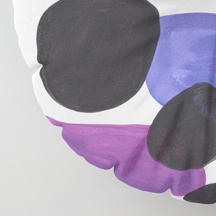 Candy Pink Blue Periwinkle Purple Pebbles Minimalist Mid Century Bright Pop Art Floor Pillow