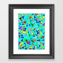 Triangle Mania Framed Art Print