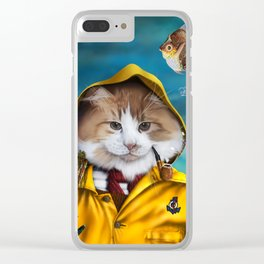Le pêcheur/The fisherman Clear iPhone Case