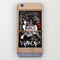 grafitti iPhone & iPod Skins featuring Grafitti Door - Creep by Barbara Gordon Photography