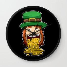 Leprechaun Vomits Coins - Irish Wealth Wall Clock
