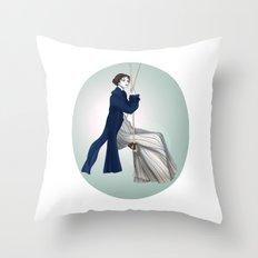 Fashion Illustration - Pride & Prejudice Throw Pillow