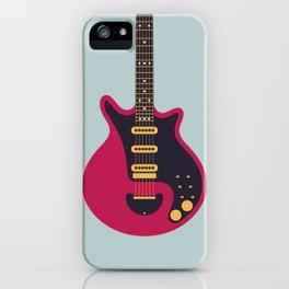 Glam Rock 70s Electric Guitar - Slate iPhone Case