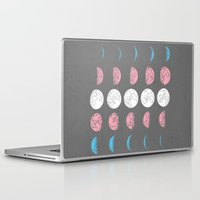moon phase Laptop & iPad Skins featuring Not Just A Phase by August
