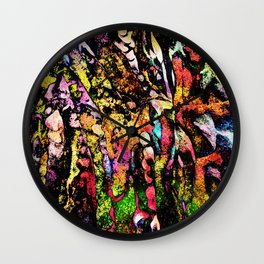 Colored Tafoni 1 Wall Clock