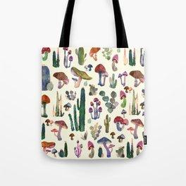 mushrooms and cactus Tote Bag