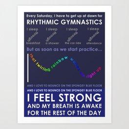 Rhythmic Gymnastics Art Print