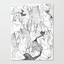 Daughters of Achelous Canvas Print