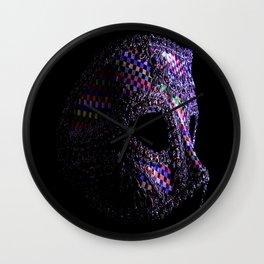 Harlequin mask Wall Clock