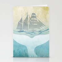 moby dick Stationery Cards featuring Moby by Vin Zzep