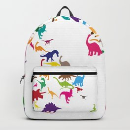 Dinosaur Map of the World Map Backpack