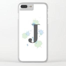 J Clear iPhone Case