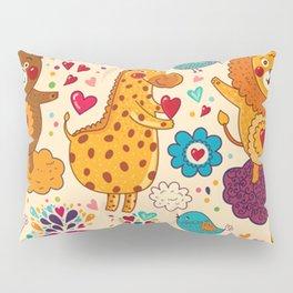 Animals in love Pillow Sham