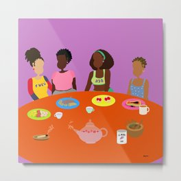 Breakfast for four Metal Print