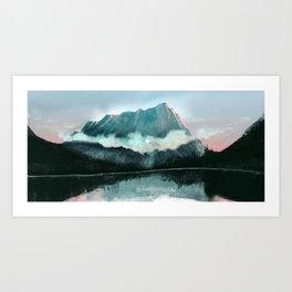 Minty Mountain Art Print