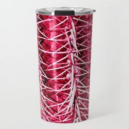 Cactus Pattern Red Travel Mug